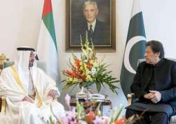 Abu Dhabi Crown Prince discusses regional, international issues with PM Khan in Islamabad