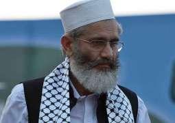Politicians besides establishment responsible for weakening democracy : Siraj-ul-Haq