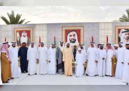 Mohammed bin Rashid attends wedding reception