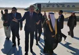 FM reaches Riyadh on a mission to de-escalate tensions in Middle East