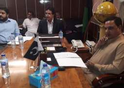 Provincial Minister of Industry and Trade Jam Ikramullah Dharejo takes notice of release of  toxic water into lake