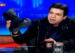 "Vawda's stunt of ""solider boots in TV show: PEMRA bans ARY's ""Off the Record"" program"