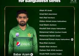Pakistan squad for Bangladesh T20Is named