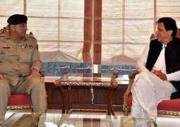 COAS General Bajwa calls on PM Khan, discusses national security
