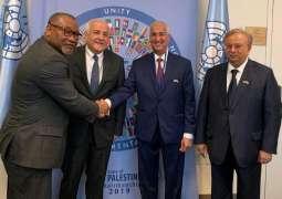 الشربا السعودي لمجموعة العشرين والسفير المعلمي يلتقيان برئيس مجموعة الـ ٧٧ والصين في الأمم المتحدة