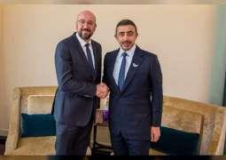 Abdullah bin Zayed meets President of European Council