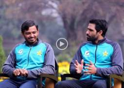 Ahsan Ali, Amad Butt in conversation with Shan Masood