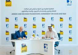 ADNOC, Eni sign strategic framework agreement on CCUS, R&D