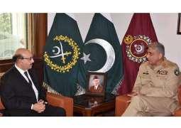 COAS General Bajwa calls on AJK President Masood Khan