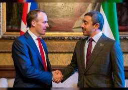 Abdullah bin Zayed meets British Foreign Secretary