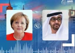 Mohamed bin Zayed, Merkel deliberate regional developments