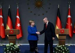 Erdogan Says Discussed Ways to Achieve Truce in Syria's Idlib With Merkel