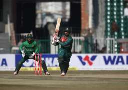Ban lost two wickets at 22 runs in 2nd T20I against Pak