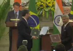 Brazil, India Sign Multiple Memorandums of Understanding During Bolsonaro's Visit