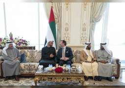 Mohamed bin Zayed receives Prince Guillaume of Luxembourg