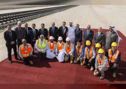 Theyab bin Mohamed bin Zayed launches construction works of Package A of Stage Two of the UAE railway network