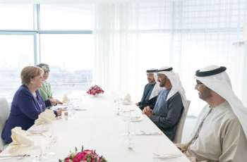 Mohamed bin Zayed and Merkel review bilateral ties, regional development