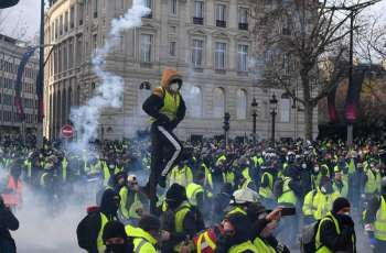 French Police Detain 32 Protesters at Yellow Vest Rally in Paris