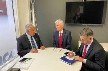 الدكتور الربيعة يلتقي وكيل الأمين العام للأمم المتحدة للشؤون الإنسانية ومنسق الإغاثة في حالات الطوارئ