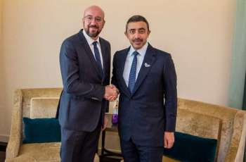 Abdullah bin Zayed meets President of European Council