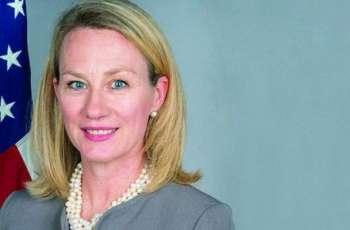 مساعدة وزیر الخارجیة الأمریکي لشوٴون جنوب ووسط آسیا ألیس جي ویلز تصل باکستان في زیارة رسمیة