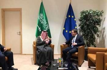 وزير الدولة للشؤون الخارجية يلتقي عضو لجنة التجارة الدولية في البرلمان الأوروبي