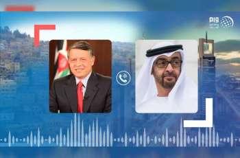 محمد بن زايد يتلقى اتصالًا هاتفيًا من ملك الاردن