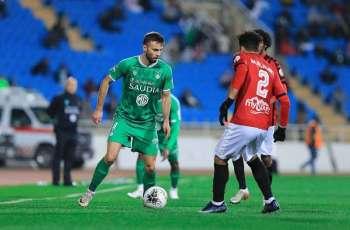 الأهلي يتغلب على مضيفه الرائد في ثاني مباريات الجولة الـ 15 من دوري كأس الأمير محمد بن سلمان للمحترفين