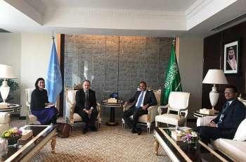 نائب مندوب المملكة الدائم لدى الأمم المتحدة يلتقي رئيس مكتب الأمم المتحدة لخدمات المشاريع