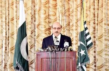 End to genocide in Kashmir a must for fruitful mediation: AJK President
