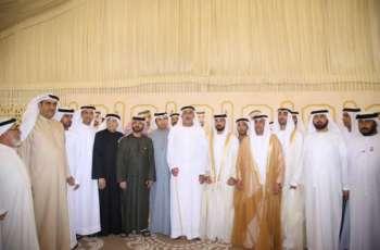 سلطان بن خليفة ونهيان بن مبارك يحضران أفراح البلوشي والحمادي وبيشوه