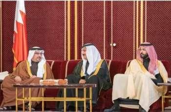 سمو ولي العهد البحريني يستقبل الأمير سلطان بن أحمد بن عبدالعزيز ورئيس وأعضاء مجلس الأعمال السعودي البحريني