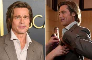 Brad Pitt wears his name tag at Oscars luncheon and gets applauded on the internet