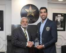Umar Gul honoured during third T20I