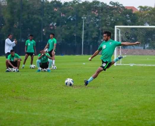 المنتخب السعودي لكرة القدم تحت 23 عاما يعاود تدريباته اليوم بعد مواجهة منتخب سوريا
