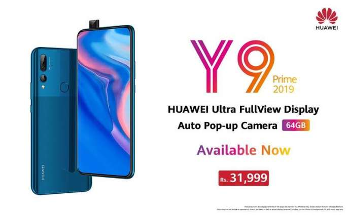 Bringing a Pop-up Camera for Everyone HUAWEI Y9 Prime 2019 (64GB Version) Goes on Sale