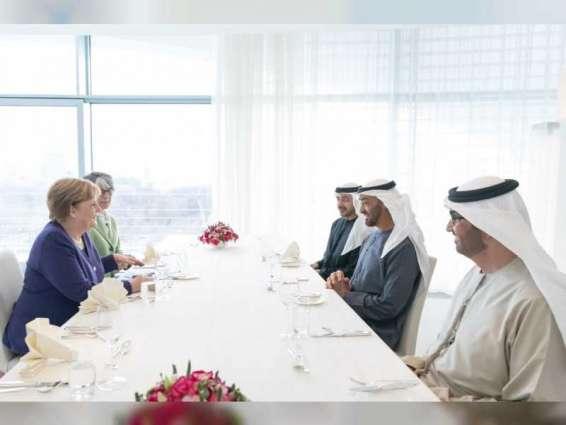 Mohamed bin Zayed and Merkel review bilateral ties, regional development