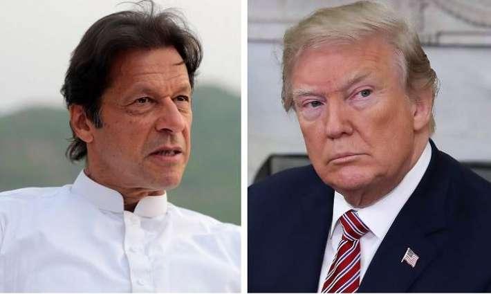 الرئیس الأمریکي دونالد ترامب یصف رئیس الوزراء الباکستاني عمران خان صدیقا حمیا لہ