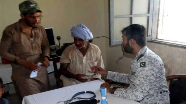 Pakistan Navy sets up a medical camp at Shams Pir Island