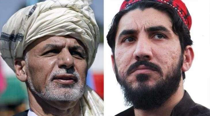 """الرئیس الأفغاني أشرف غني یعرب عن قلقہ ازاء اعتقال زعیم حرکة """" حمایة البشتون """" منظور باشتین"""