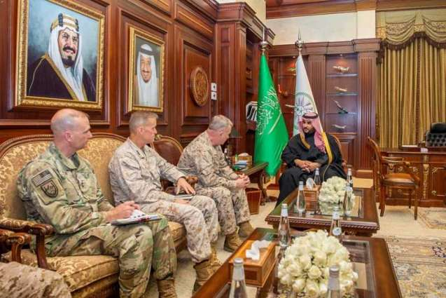 سمو نائب وزير الدفاع يلتقي قائد القيادة المركزية الأمريكية