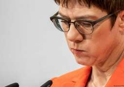 Kramp-Karrenbauer Drops Out of Race to Become German Chancellor - Reports
