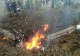 Another aircraft crashes in Mardan area