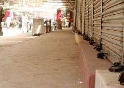 Compensation demanding traders threatened shutter down strike