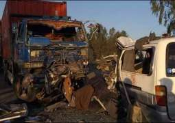 Van-dumper collision claims 5 lives on Pindi-Fateh Jang road