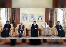 Nahyan bin Mubarak receives Supreme Head of the Universal Syriac Orthodox Church