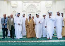 حاكم الشارقة يفتتح مسجد الشهيد سلطان بن هويدن الكتبي