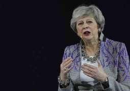 Theresa May participates in Youth Circle at Global Women's Forum Dubai