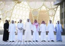سيف بن زايد بصحبة وزراء داخلية السعودية والبحرين والكويت وسلطنة عمان يزورون موقع إكسبو 2020