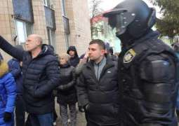 Police Officer Seriously Injured in Ukraine Protests Against Arrival of China Evacuees
